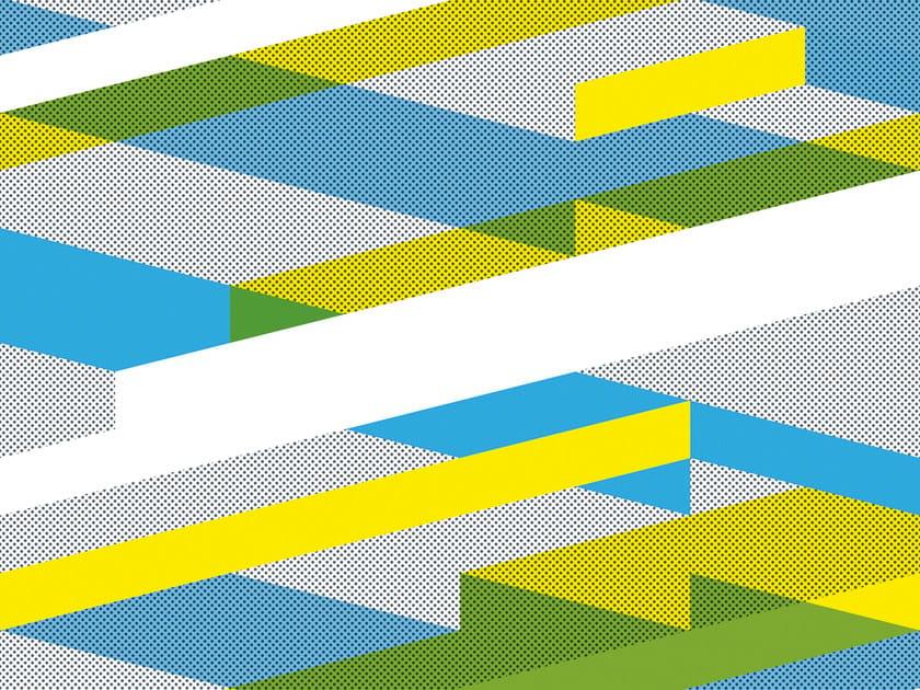 Geometric non-woven paper wallpaper DIAGONAL #02 by EXTRATAPETE