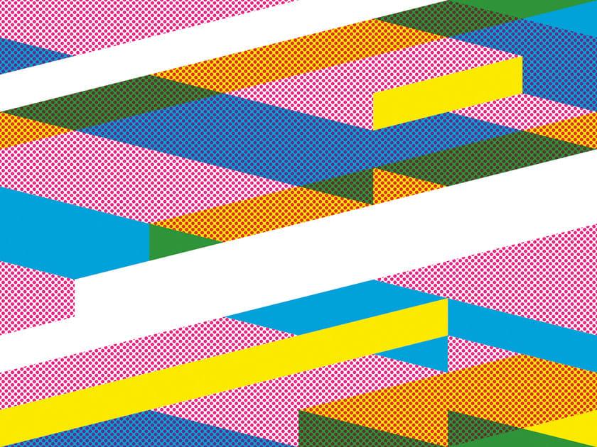 Geometric non-woven paper wallpaper DIAGONAL #03 by EXTRATAPETE