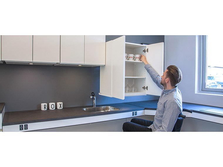 Kitchen upper cabinets DIAGONAL by Ropox