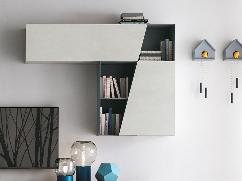 Wall cabinet with door DIAGONAL | Wall cabinet by Gruppo Tomasella
