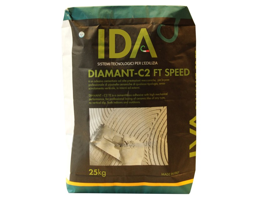 Cement adhesive for flooring DIAMANT - C2 FT SPEED by IDA