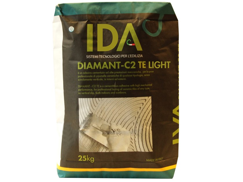 Cement adhesive for flooring DIAMANT - C2 TE LIGHT by IDA