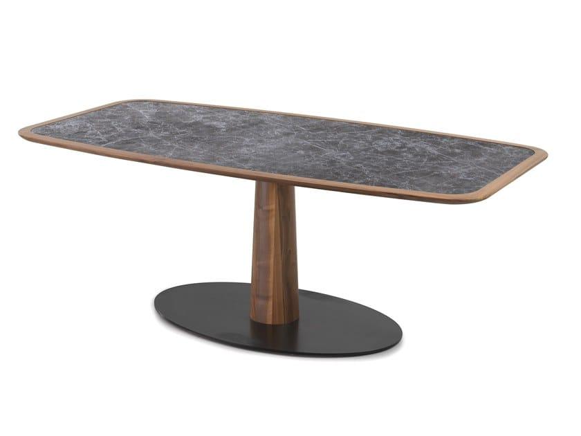 Tavolo rettangolare in ceramica DIAMANTE | Tavolo in ceramica by Oliver B.