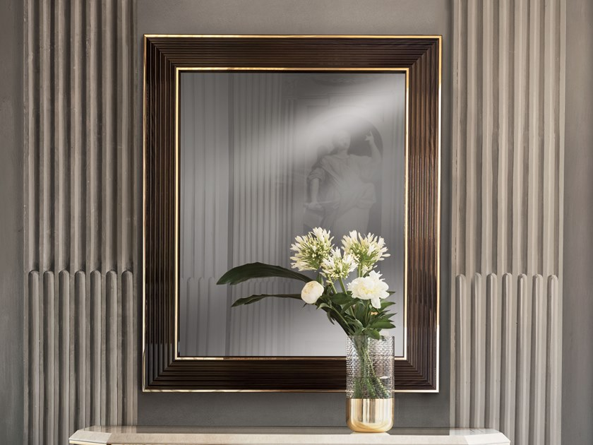 Wall-mounted framed mirror DIAMANTE | Mirror by ADORA