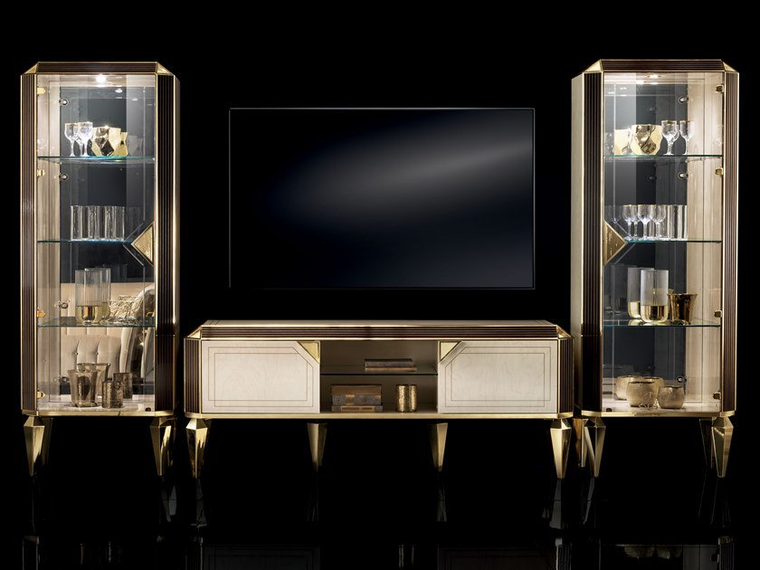 TV cabinet with doors DIAMANTE | TV cabinet by ADORA