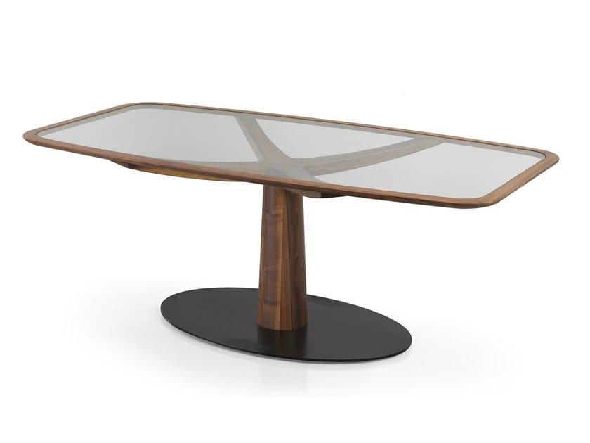 Tavolo rettangolare in legno e vetro DIAMANTE | Tavolo in legno e vetro by Oliver B.
