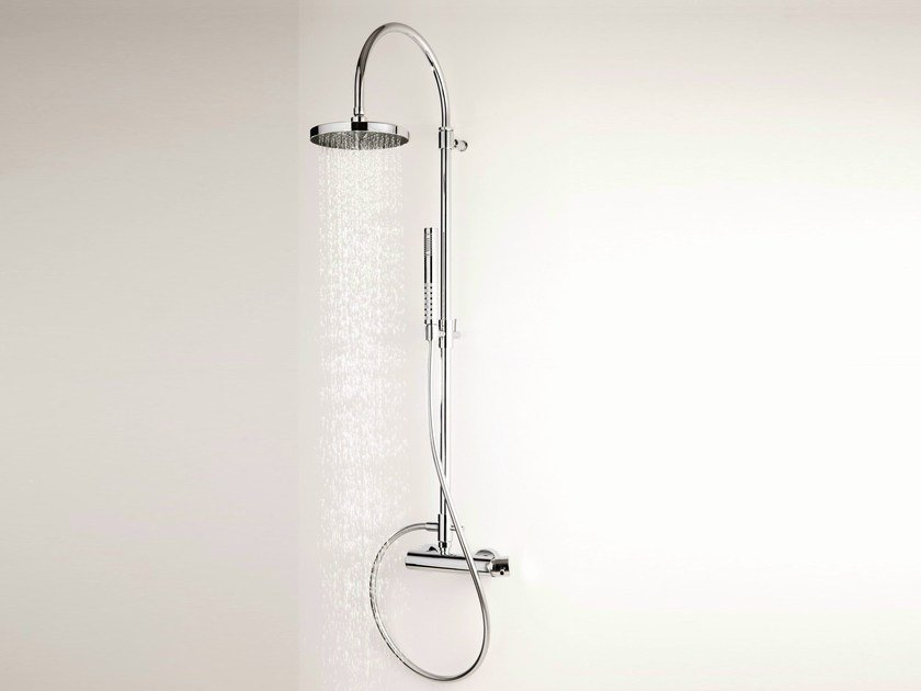 Wall-mounted shower panel with hand shower with overhead shower DIAMETROTRENTACINQUE | Gruppo doccia by RITMONIO