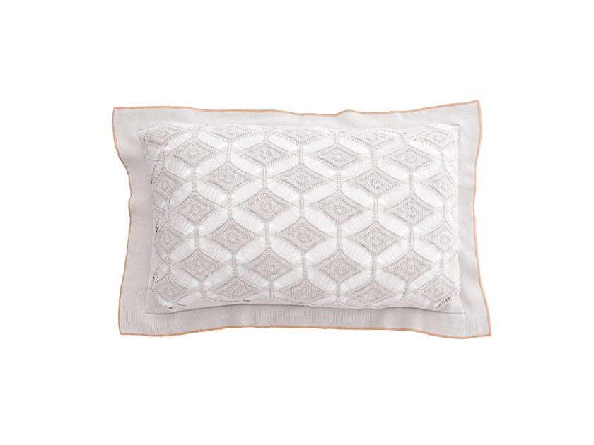 Rectangular cotton cushion DIAMON LACE | Rectangular cushion by Sans Tabù