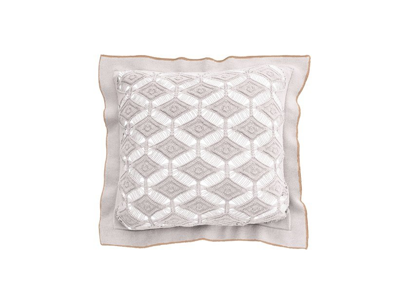 Square cotton cushion DIAMON LACE | Square cushion by Sans Tabù