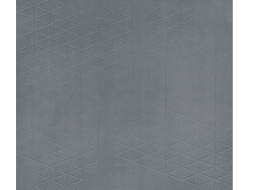 Handmade rectangular rug DIAMOND BLUE 3D by EDITION BOUGAINVILLE