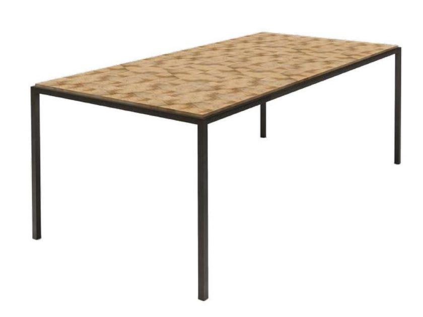 Rectangular olive wood table DIAMOND by HEBANON