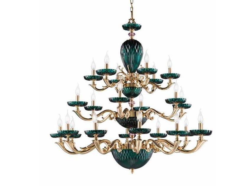 Crystal chandelier DIAMOND L12+6+6 by Euroluce Lampadari