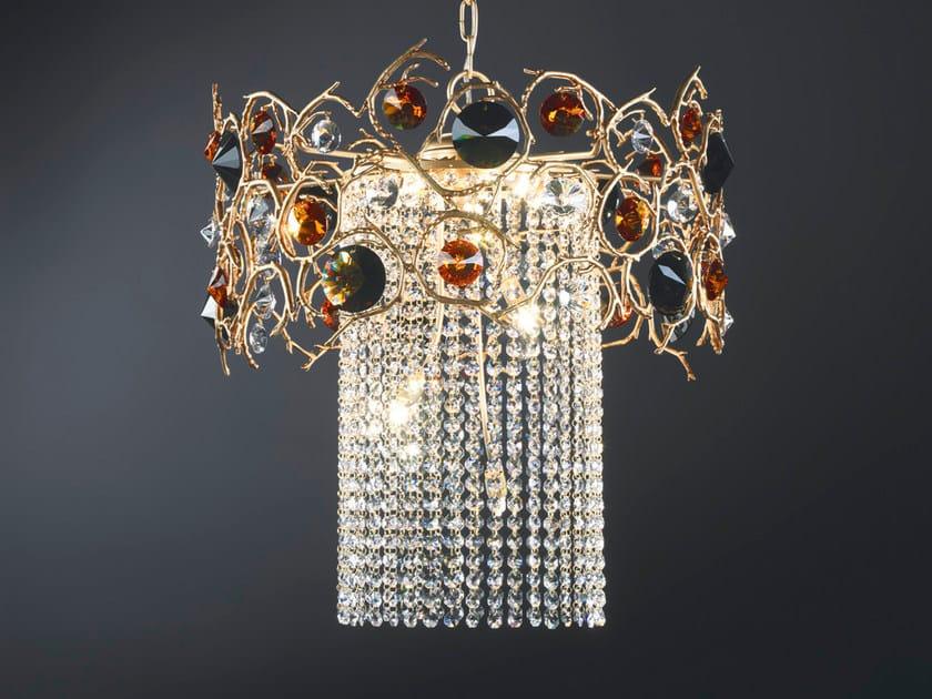 Halogen pendant lamp with crystals DIAMOND | Pendant lamp with crystals by Serip