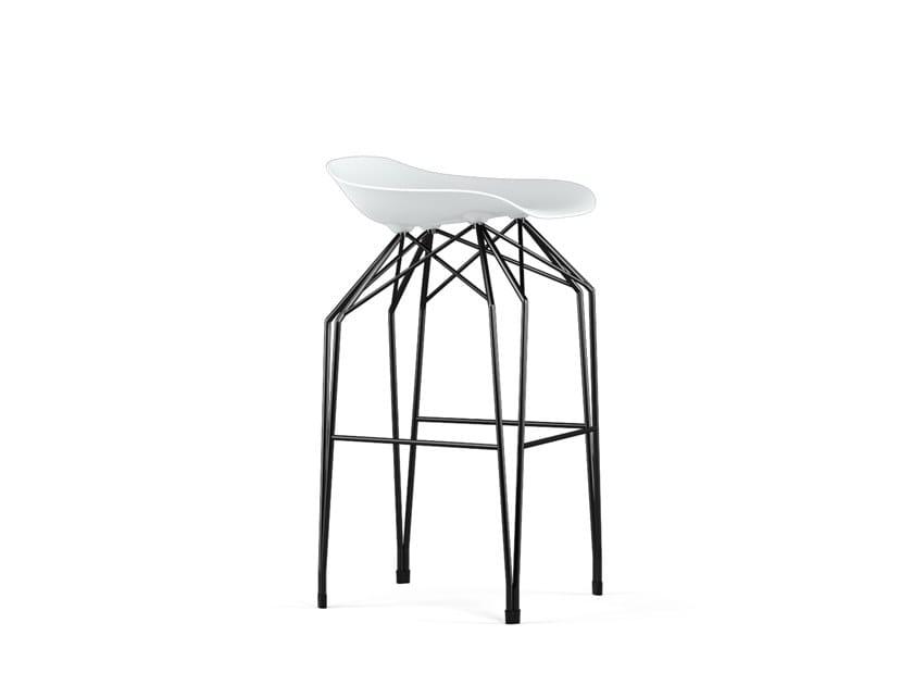 Polypropylene barstool DIAMOND V9 | Low stool by KUBIKOFF