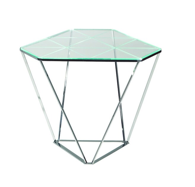 Glass side table DIAMOND by ROCHE BOBOIS