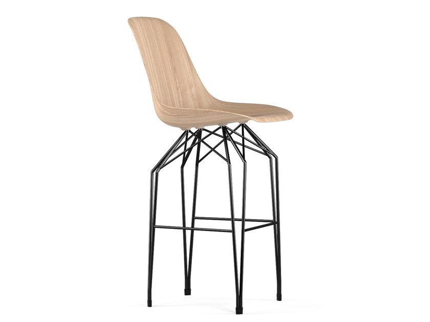 Wooden barstool DIAMOND W9 | Wooden stool by KUBIKOFF