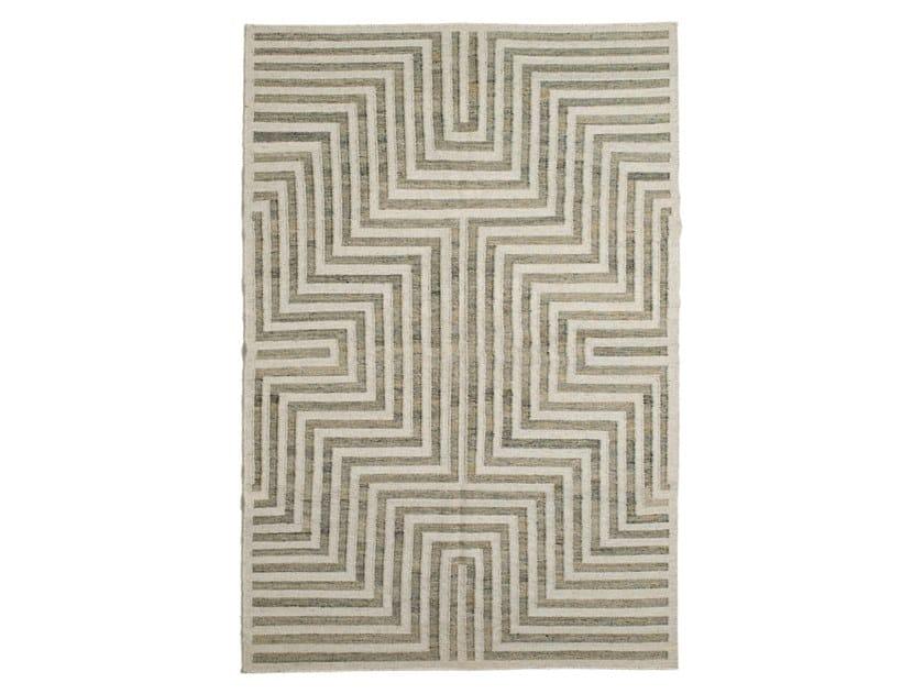 Handmade rectangular jute, wool and cotton rug DIAMONDS DR 243 A MULTI by Kuatro