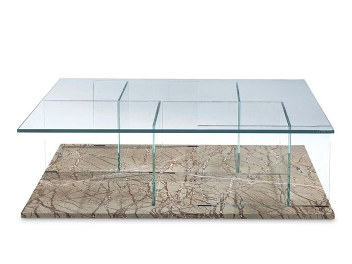 Rectangular glass coffee table DIAP by ROCHE BOBOIS