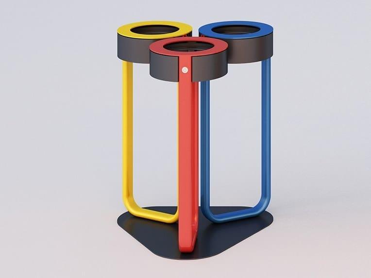 Anti-terrorist litter bin for waste sorting DIAPASON TRIS | Anti-terrorist litter bin by DIMCAR