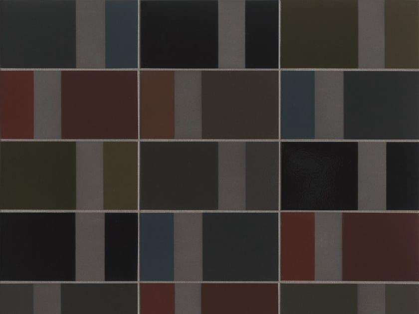 Glazed stoneware wall tiles DIARAMA BLACK CHROMA by MUTINA