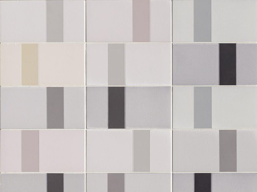 Glazed stoneware wall tiles DIARAMA CHALK by MUTINA