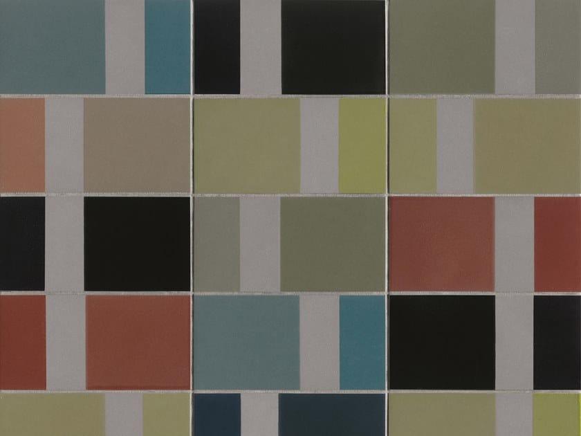 Glazed stoneware wall tiles DIARAMA GREY CHROMA by MUTINA