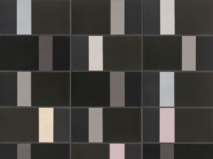 Glazed stoneware wall tiles DIARAMA IRON by MUTINA