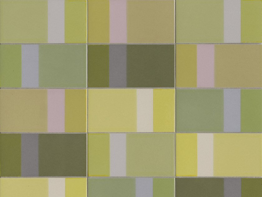 Glazed stoneware wall tiles DIARAMA LIME LIGHT by MUTINA