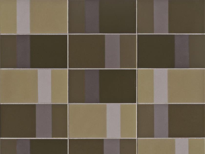 Glazed stoneware wall tiles DIARAMA MAIZE DARK by MUTINA