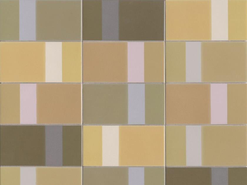 Glazed stoneware wall tiles DIARAMA MAIZE LIGHT by MUTINA