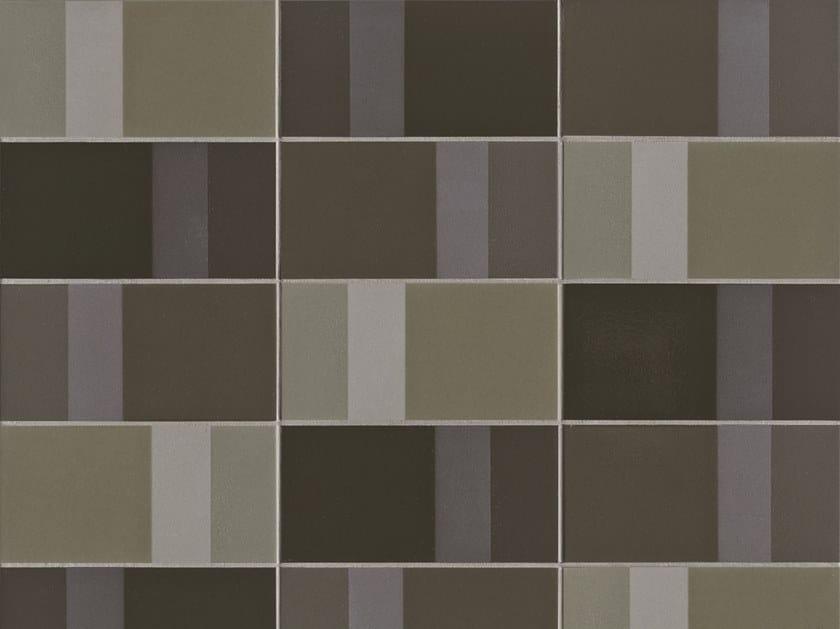 Glazed stoneware wall tiles DIARAMA SEAWEED DARK by MUTINA