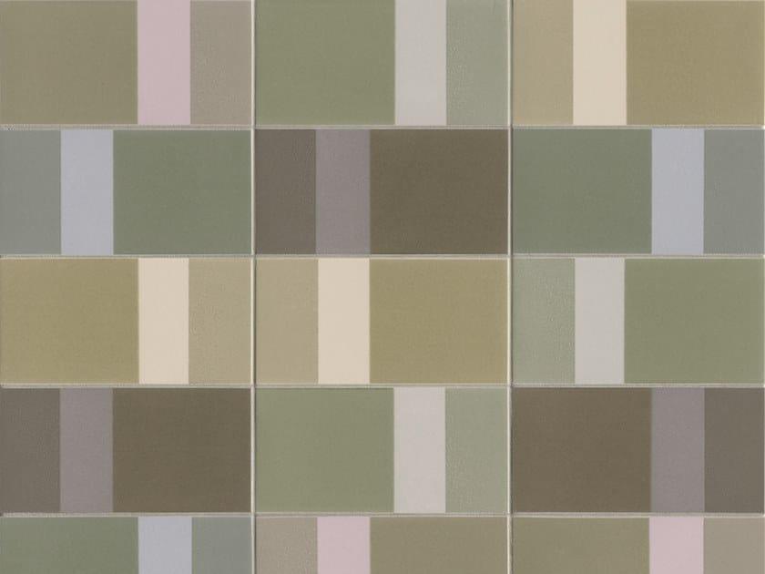 Glazed stoneware wall tiles DIARAMA SEAWEED LIGHT by MUTINA
