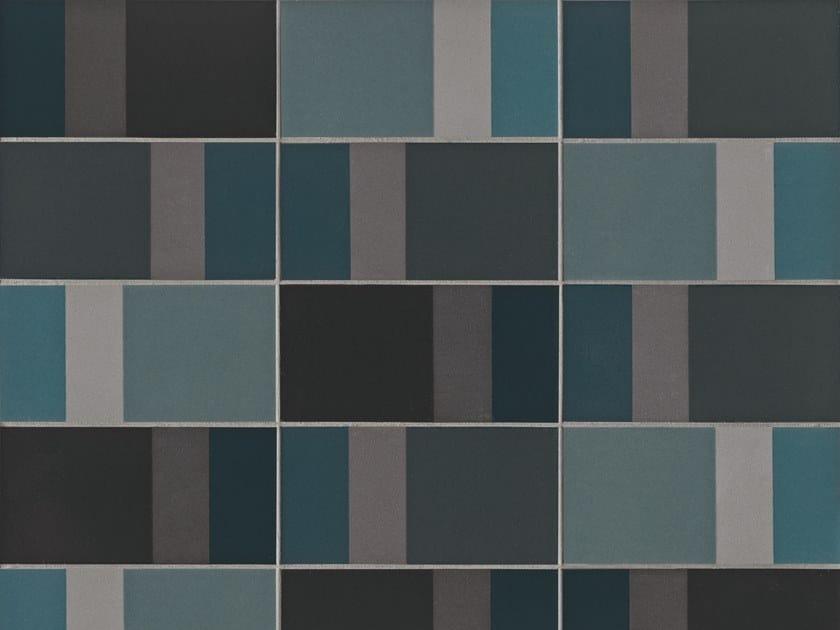Glazed stoneware wall tiles DIARAMA SKY DARK by MUTINA