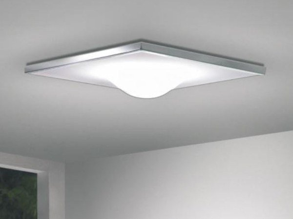 Direct light glass and aluminium ceiling light DICKEY SQUARE by Milan Iluminacion
