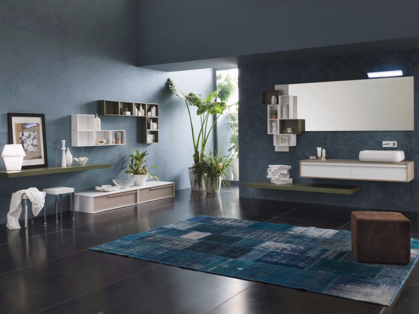 Laminate bathroom cabinet / vanity unit DIECI - Composizione 2 by INDA®