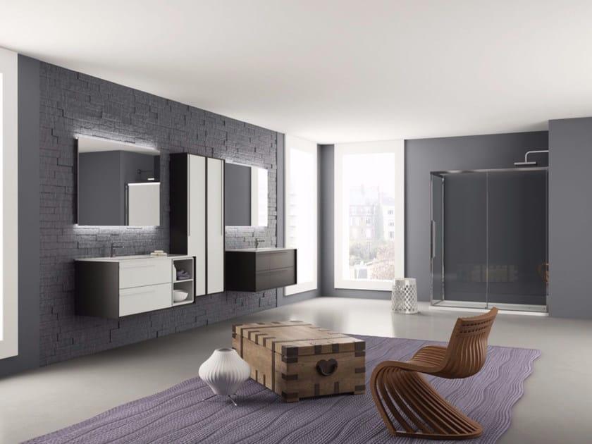 Sistema bagno componibile DIECI - Composizione 3 by INDA®