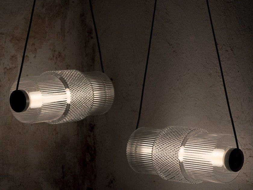 Direct light glass pendant lamp DIES NOX by Karman