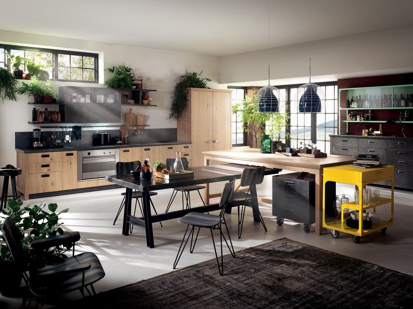 Fitted kitchen DIESEL SOCIAL KITCHEN by Scavolini