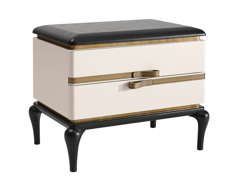 Bedside table with drawers DILAN | Bedside table by A.R. Arredamenti