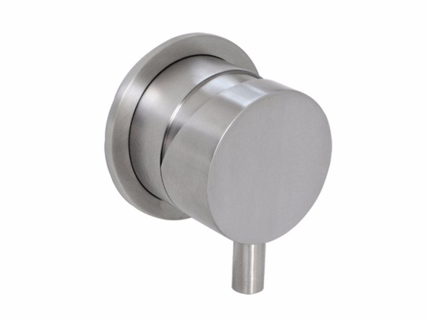 Wall-mounted stainless steel remote control tap DIMENSIONE74 5100 by MINA