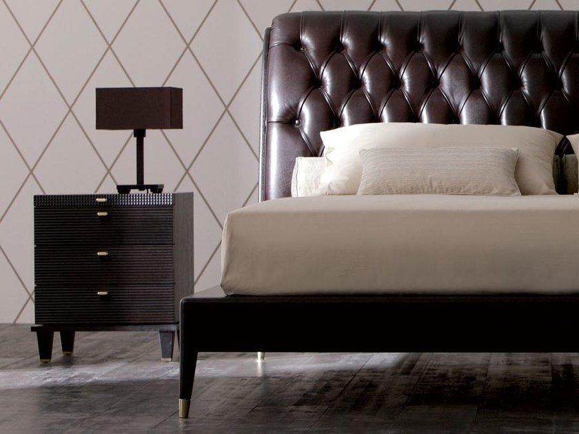 Rectangular wooden bedside table with drawers DIMITRI | Bedside table by OPERA CONTEMPORARY