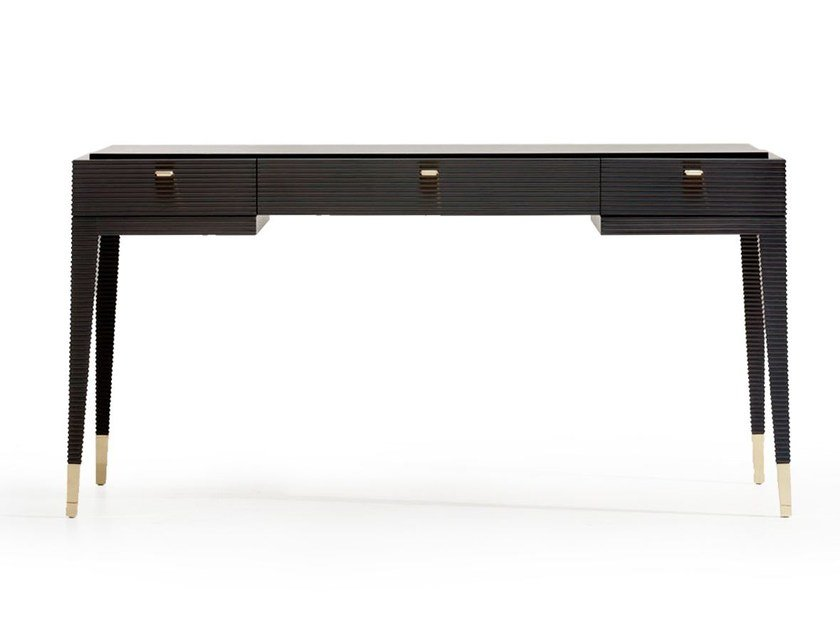 Wooden Writing Desk With Drawers Dimitri By Opera Contemporary