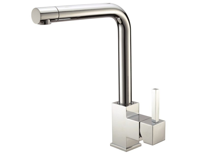 Countertop brass kitchen mixer tap with swivel spout DIMITRI by I Crolla Rubinetterie