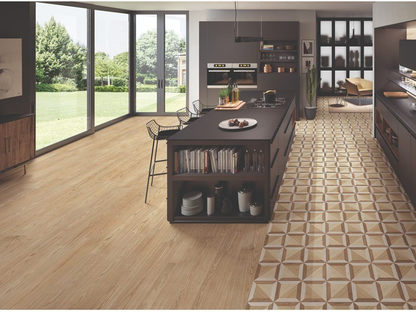Porcelain stoneware wall/floor tiles with wood effect DIMORE DORATO by EmilCeramica by Emilgroup