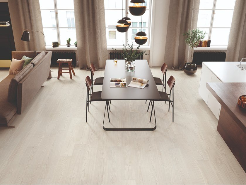 Porcelain stoneware wall/floor tiles with wood effect DIMORE SBIANCATO by EmilCeramica by Emilgroup