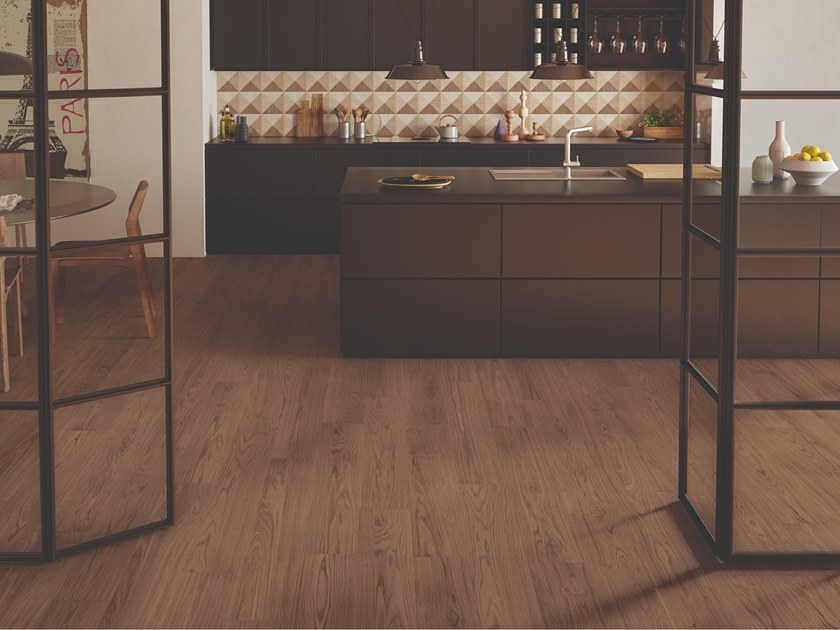 Porcelain stoneware wall/floor tiles with wood effect DIMORE TABACCO by EmilCeramica by Emilgroup