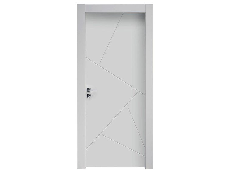 Hinged lacquered wooden door DINAMICA by NUSCO