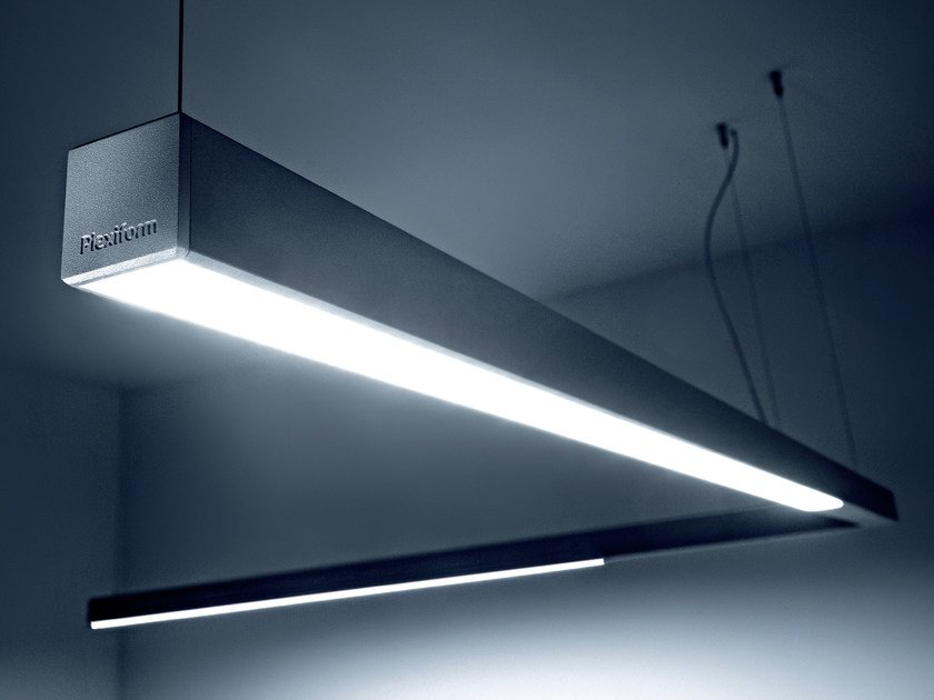 LED direct light extruded aluminium pendant lamp DINAMICA   Pendant lamp by PLEXIFORM