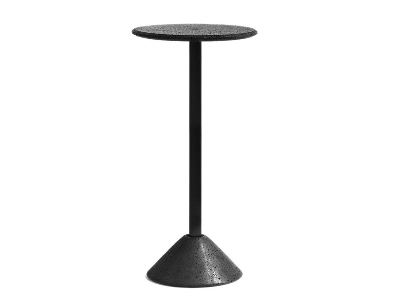 Round lava stone high table DING | High table by BUZAO