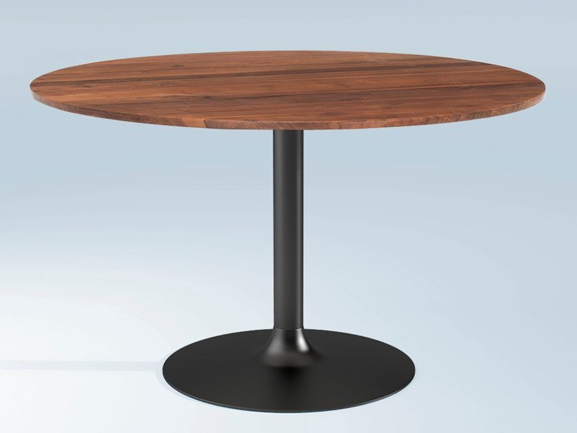 Round wooden dining table CHICAGO | Wooden table by Emotional Projects